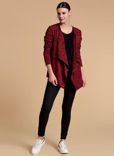 Fashion Friends Şal Yaka Triko Hırka Kırmızı